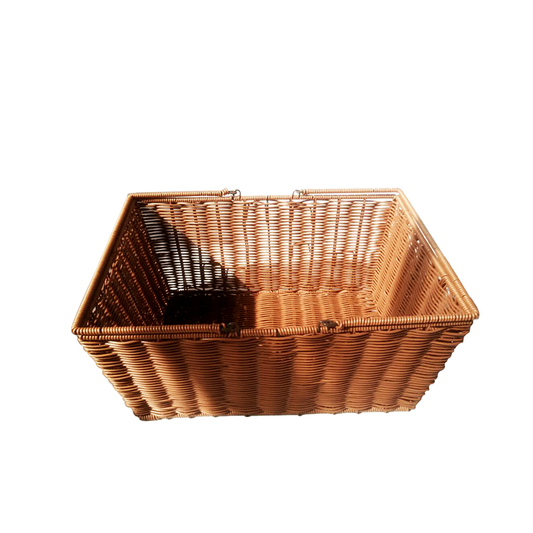 washable PP rattan laundry basket for storage