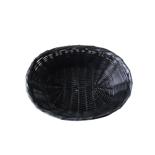 oval type plastic wicker fruit basket with hand made