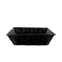 plastic rattan wicker bread basket for display