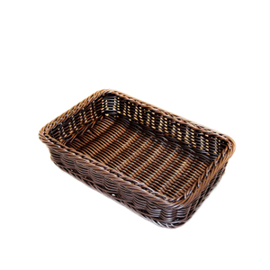 handcraft PP rattan display basket for fruit