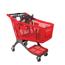 100L plastic shopping carts for supermarket