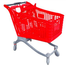 220L big plastic shopping carts for retail store