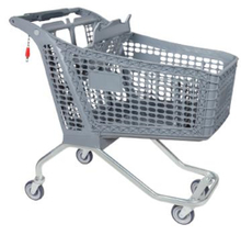 220L big plastic shopping trolley for supermarket